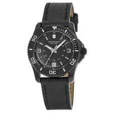Victorinox Swiss армия женские часы Скиталец черный циферблат кожаный ремешок 241788