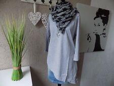 Sheego Longshirt asymmetrisch grau Gr. 44 46 NEU Longsleeve Shirt (23b)