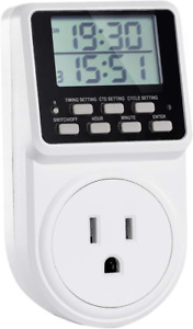 Digital Infinite Repeat Cycle Plug Timer Switch Countdown 24 Hour Program Outlet