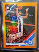 2019-20 Panini Donruss Optic Ben Simmons Orange Prizm #/199 - Philadelphia 76ers