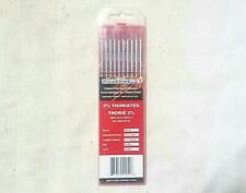 """TIG WELDING TUNGSTEN ELECTRODE 2% Thoriated WT20 Red 1/8 x 7"""" EWTh-2 10 Pack"""