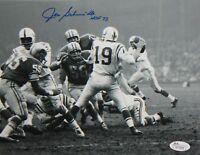 Joe Schmidt HOF Autographed 8x10 B&W On Field Photo- JSA Authenticated