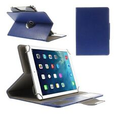 Universal Schutz Tasche Hülle Flip Cover Case für 10 Zoll Tablet 360° Blau 04E