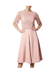 L.K. BENNETT Blush Pink Dr Etta Dress. Size UK 10. NEW WITH TAGS. RRP £375