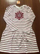 Gymboree Striped Snowflake Dress - Red & White