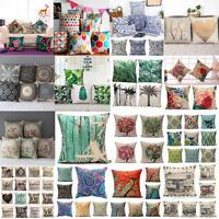 Square Cotton Linen Waist Throw Pillow Case Cushion Cover Home Sofa Decor New
