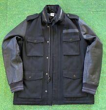 Nike DESTROYER Military Field M65 Letterman Jacket Wool Leather Black 512824-010