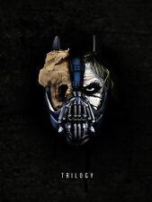 Joker Batman Bane Trilogy Print Silk POSTER 24x32