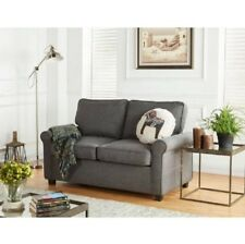 Love Seat With Sleeper Memory Foam Mattress Twin Grey Bed Secondary Sleeping New