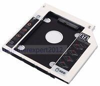 "Add 2nd SATA 2.5"" Hard Drive HDD SSD Caddy Tray for Lenovo IdeaPad Z50-75 G50-80"