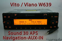 Mercedes Original Navigationssystem W639 Vito V639 V-Klasse Sound 30 APS AUX-IN