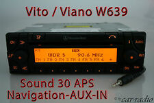 Original Mercedes Navigationssystem W639 Vito V639 V-Klasse Sound 30 APS AUX-IN