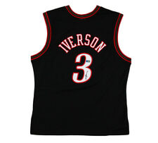 Allen Iverson Signed Philadelphia 76ers Mitchell & Ness Black NBA Jersey