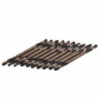 "10 pcs 1/8"" Double Ended With Cobalt M35 Drill Bit Set 10219B."