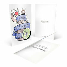 Ginsanity Gin Birthday Greeting Card-True Friend Knows Exactly When I Need A Gin