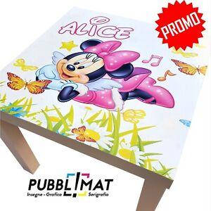 Tavolino Minnie con nome