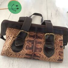 🌸  Real Leather Bag Handbag Shoulder Medium Snake Brown