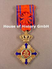 Rumänien: Sternen Orden von Rumänien Offizierskreuz, 1.Modell, Bronze vergoldet