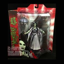 """MUNSTERS Select HOT ROD LILY Raceway 7"""" Figure with STAIRCASE Diorama Piece DST!"""