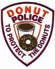 "Donut Police Patch ""To protect the donuts"""