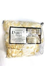 Charter Club Damask Designs Watercolor Leaf FULL QUEEN Duvet & Shams Set Yellow