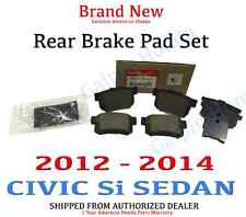 2012- 2014 Honda CIVIC Si 4DR SEDAN Brake Pad or Shoe, Rear/Disc Brake Pad
