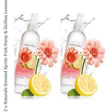 2 x AVON NATURALS P DAISY & Limoni di Sicilia PROFUMATA SPRITZ stanza Mist Spray 100ml