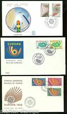 Miscellaneous Europa Lot Of Three First Day Covers