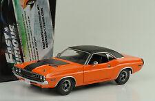 1970 Dodge Challenger orange black vinil roof Fast and & Furious 1:18 Greenlight