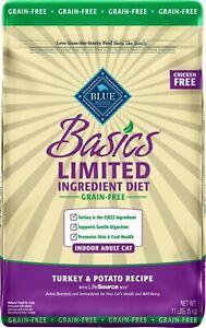 Blue Buffalo Basics Grain-Free Turkey & Potato Recipe Indoor Adult Dry Cat 11lb
