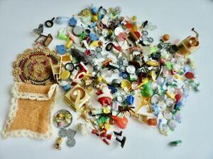 HUGE Lot Vintage DOLLHOUSE Miniatures GUMBALL Cracker Jack Prizes Accessories