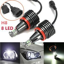 No Error LED 80W Angel Eyes Halo Light H8 Bulb For BMW E90 E92 E82 E60 E70 X5 X6
