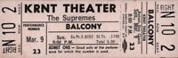THE SUPREMES 1969 TOUR UNUSED KRNT CONCERT TICKET / DIANA ROSS / NM 2 MINT No. 4