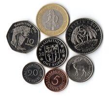 Aktueller Münzsatz Mauritius mit Sonderausgabe 20 Rupees aus 2007.