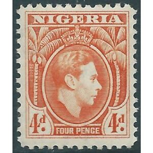 Nigeria - 1938 - KGVI - MH and Used 4d and 1s MNH - SG54 + 55A