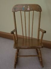 Vintage Oak Hill Co. Children's Rocking Chair  Made in Fitchburg MA