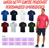 Personalised Embroidered Classic Polo Shirt Unisex Custom Your Text  UC101 Uneek