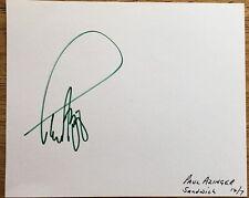 Golfer Paul Azinger Autograph Album page