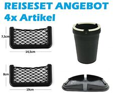 REISESET bestehend aus 4x ARTIKEL !!! Aschenbecher, Netzblagefächer, Handymatte