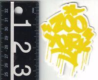 ZOO YORK SKATE STICKER Zoo York Yellow Graffiti 2.5 in. x 3.25 in Decal