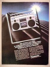 Panasonic Boom Box PRINT AD - 1983 ~ Platinum Series RX-5050