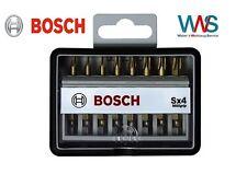 Bosch 8tlg. Robust Line Bit Set Torx Schrauberbit Max Grip T8 bis T40 Länge 49mm