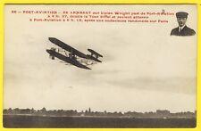 cpa AÉRODROME PORT AVIATION VIRY CHÂTILLON Pilote DE LAMBERT PARIS Tour Eiffel