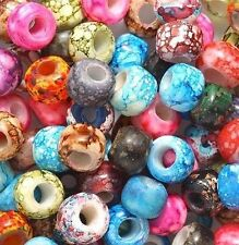 + Marble Mixed Colors Glass Crow Beads (30)