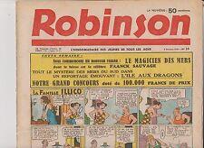 ROBINSON n°23 du 4 Octobre 1936. Mandrake, Guy l'Eclair...