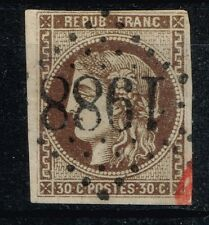 FRANCE BORDEAUX N° 47 OBLIT GC 1988 LAVARDAC + AMORCE CACHET ROUGE SIGNE CALVES