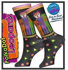Laurel Burch Polka Dot Leopards Cotton Socks