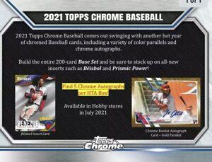 2021 TOPPS CHROME BASEBALL HTA JUMBO HOBBY 8-BOX CASE (RELEASE 8/11/21) PRESELL
