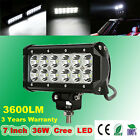 7 INCH 36W 3600LM CREE LED WORK LIGHT BAR FLOOD SPOT OFFROAD LAMP UTE 12V 24V