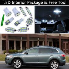 9PCS Xenon White LED Interior Car Lights Package kit Fit 2007-2012 Mazda CX-9 J1